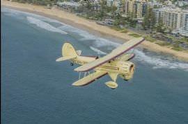 Brisbane River in a Waco Biplane for 2