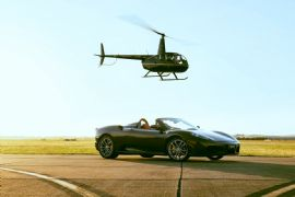 Exclusive Ferrari and Helicopter Lesson