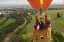Propose in a Hot Air Balloon