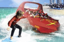 Jet Boat Ride and Surf Lesson, Child