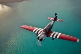 YAK Aerobatics over Whitehaven Beach