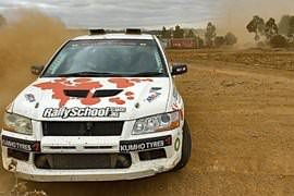 Rally Driving Two Car Blast, 17 Laps