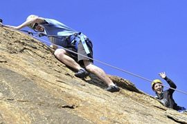 Rock Climbing and Abseiling Day with Transfers