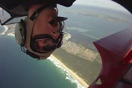 Stunt Pilot Biplane Flight